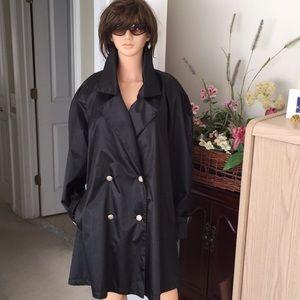 Black Vintage Trench Coat
